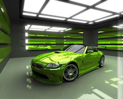Green bmw wallpeper