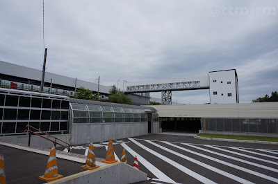 工事中の北海道新幹線奥津軽いまべつ駅
