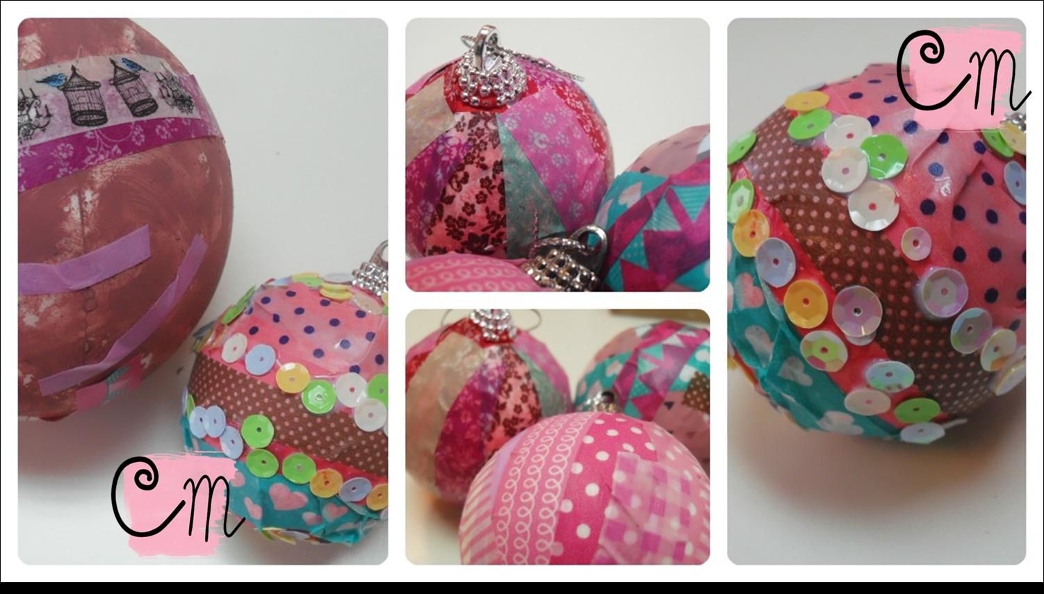 Creative mindly decorar bolas de navidad manualidades - Manualidades navidenas paso a paso ...