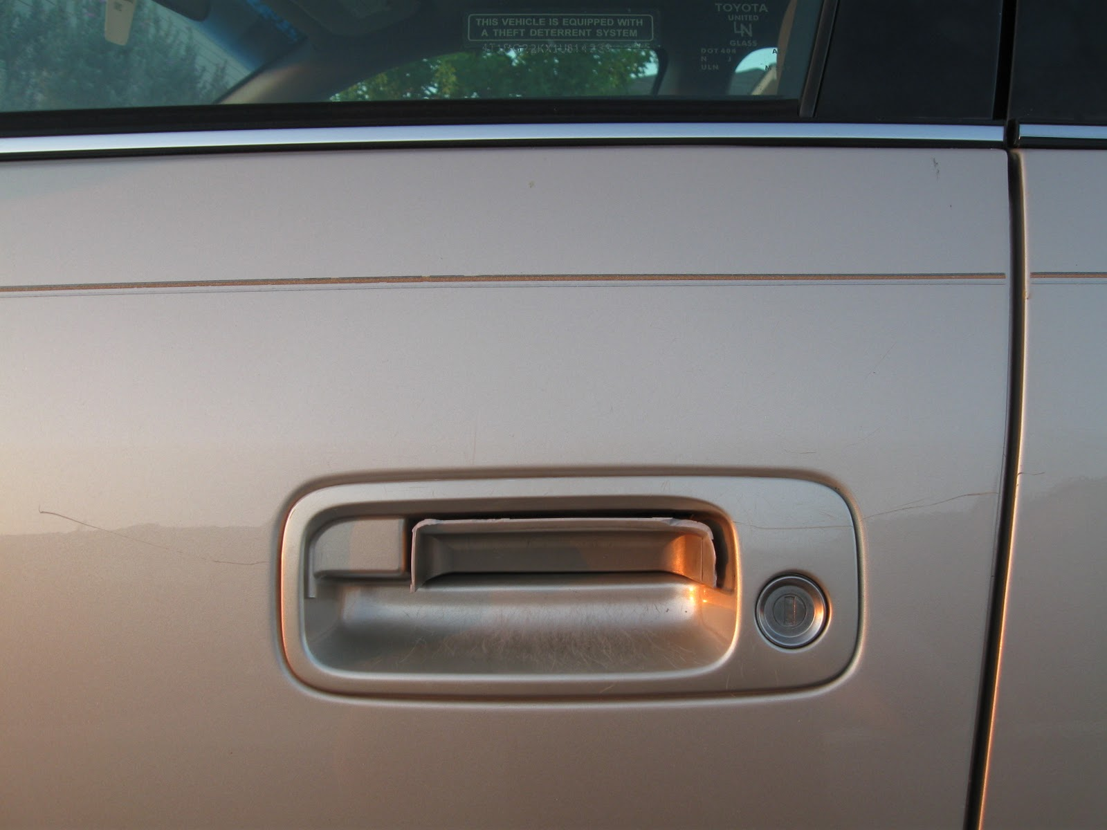 Five Frugal Sisters: Car Door Handle Repair DON\'T Do It Yourself