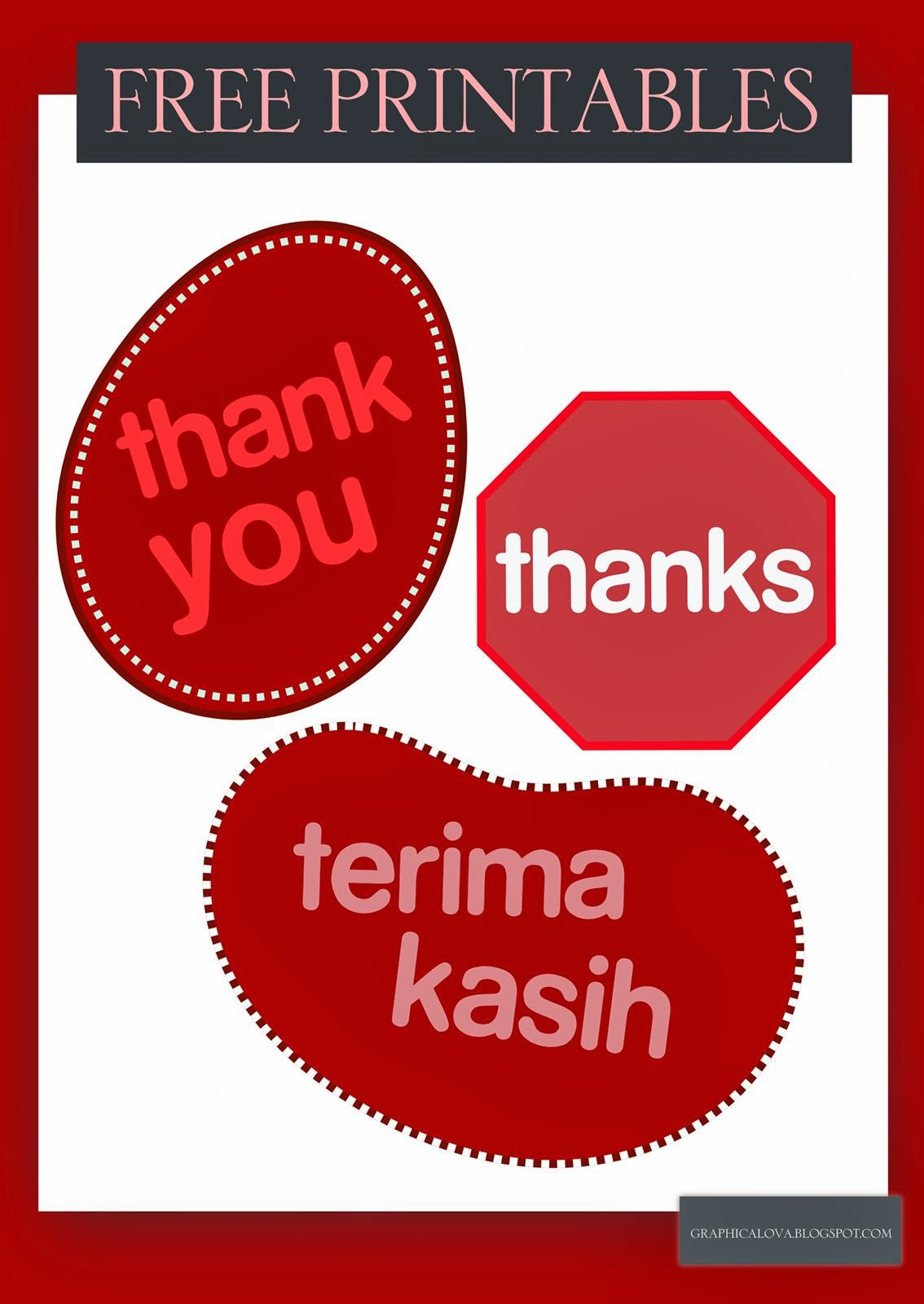 free printable thankyou card