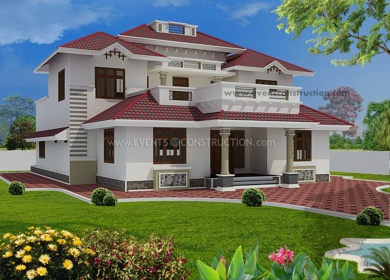 Evens construction pvt ltd 2200 modern sloping for Cost of building a house in utah