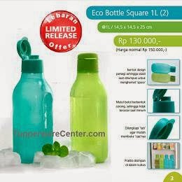 Eco Bottle Square 1L (2), Tupperware Indonesia