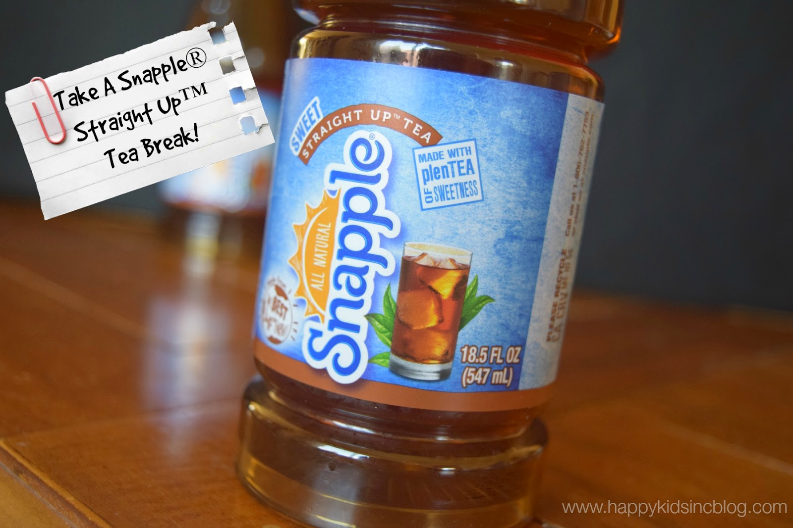 New Snapple Straight Up Tea