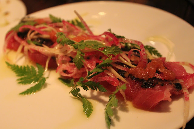 Tuna crudo at Coppa, Boston, Mass.