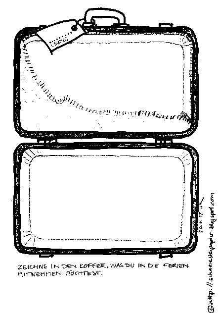 koffer ausmalbild