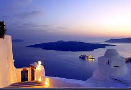 greek islands santorini volcano which is sunk
