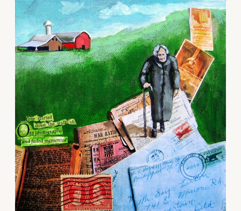 http://www.applearts.com/content/woman-walking-vintage-letters-and-memories-mixed-media-painting