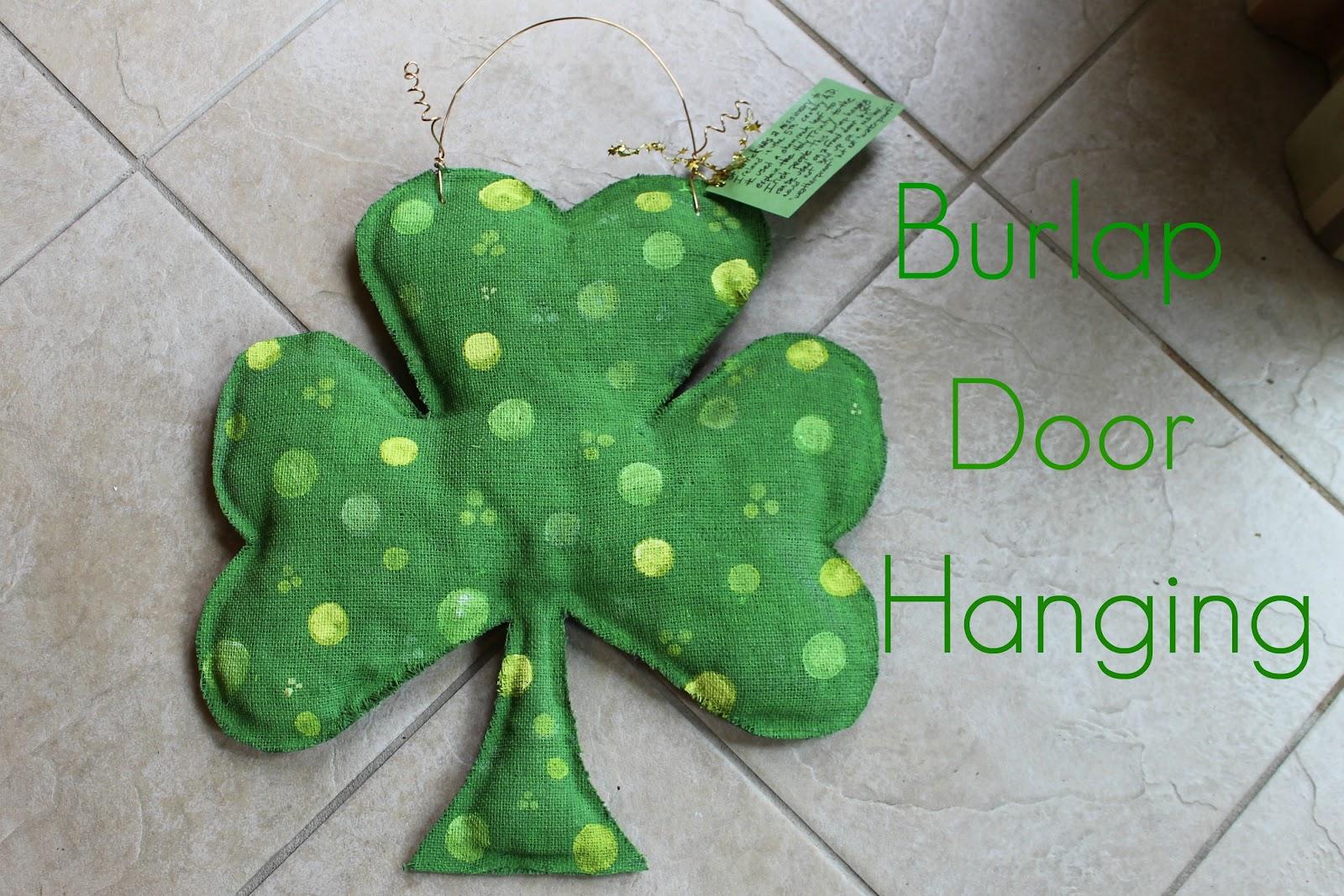 Burlap Door Hanging & Burlap Door Hanging | Miss Kopy Kat