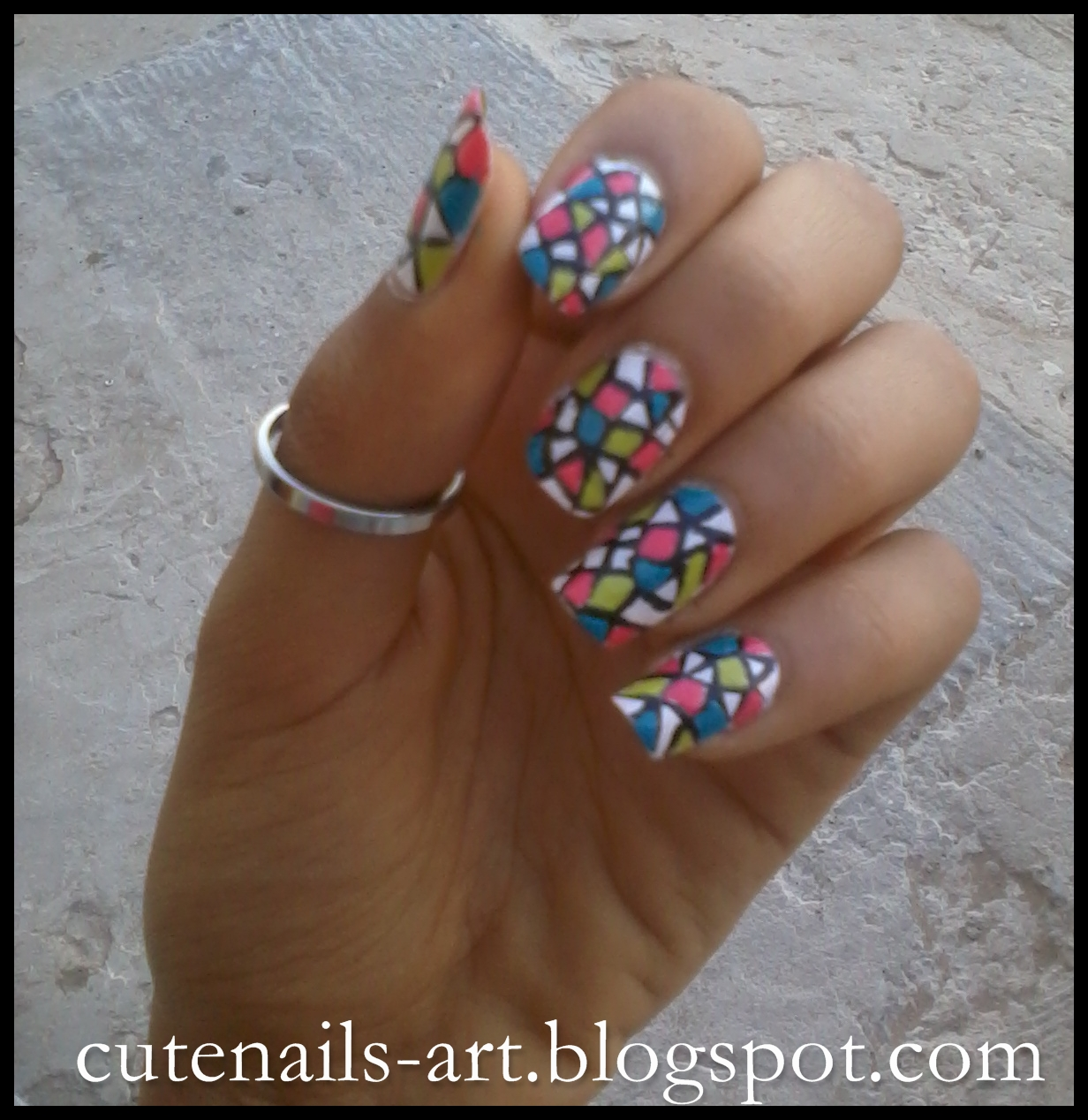 cutenails-art: Funny Nails :Stained Glass Nail Art