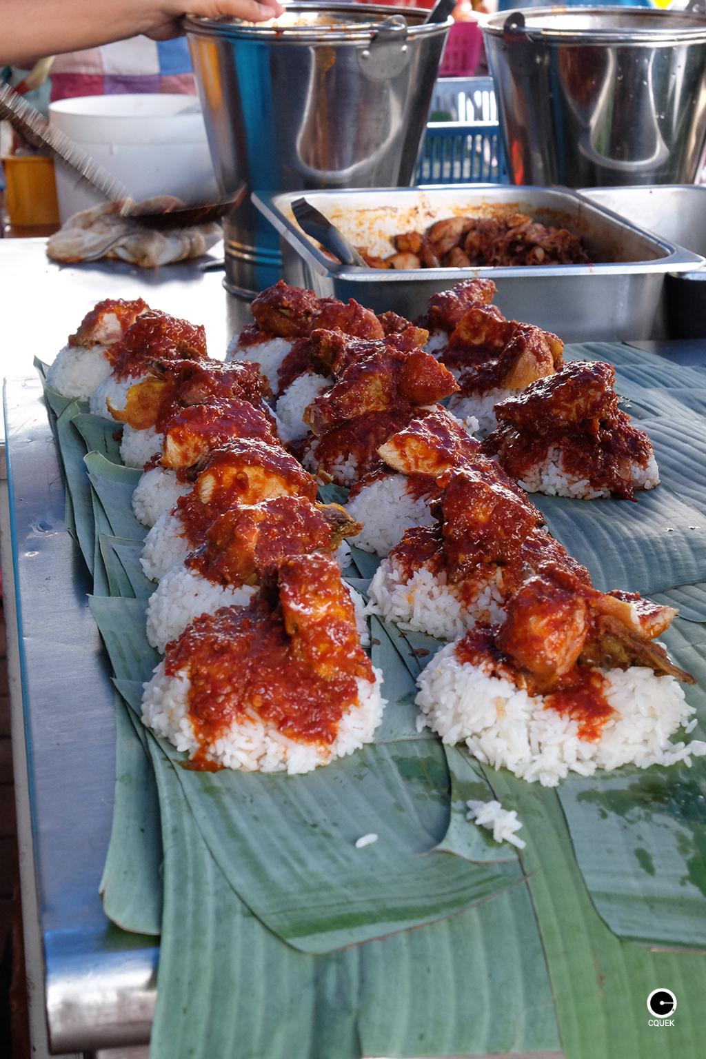 Breakfast Nasi Lemak Sri Weld Food Court Beach Street Penang Cquek