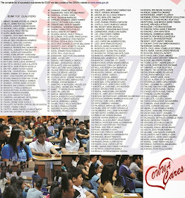 Here's the complete list of passers for EDSP which is also posted at OWWA website