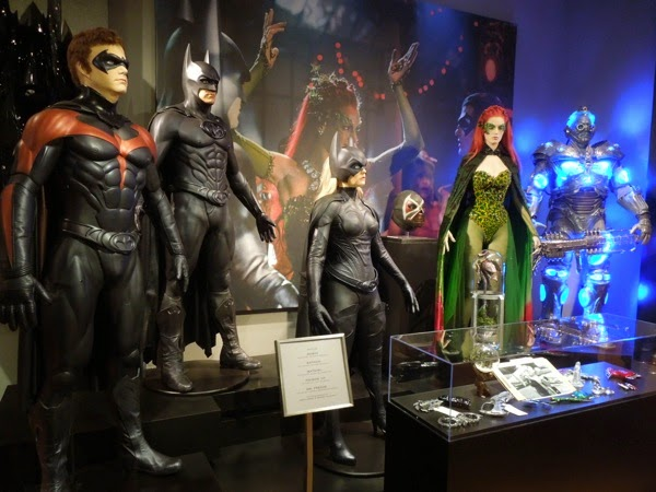 Batman and Robin movie costume prop exhibit