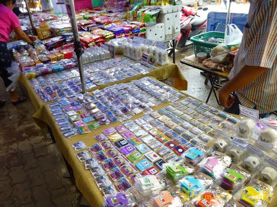 Souvenirs for sale in Mae Sai, Thailand