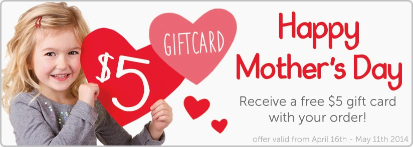 Oliver's Labels Mother's Day promotion - FREE $5 gift card with every order until May 11, 2014