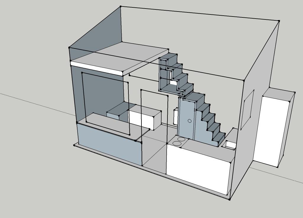 Oakland Tiny House Interior Layout