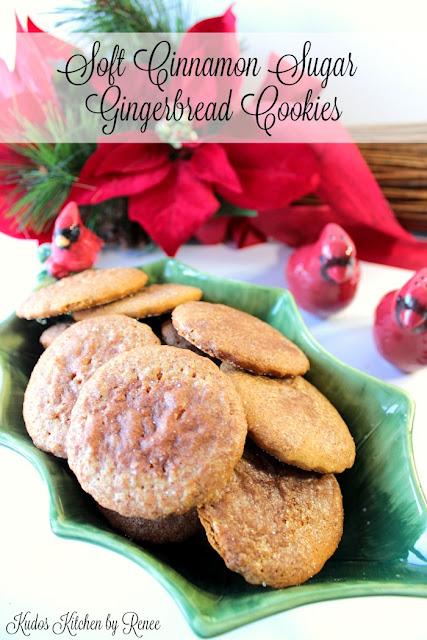 Soft Cinnamon Sugar Gingerbread Cookies