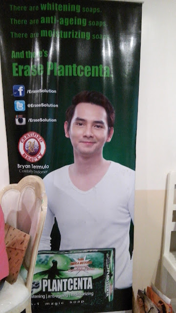 eRAse's roster of celebrity endorsers include: Bryan Termulo for eRAse Plantcenta.