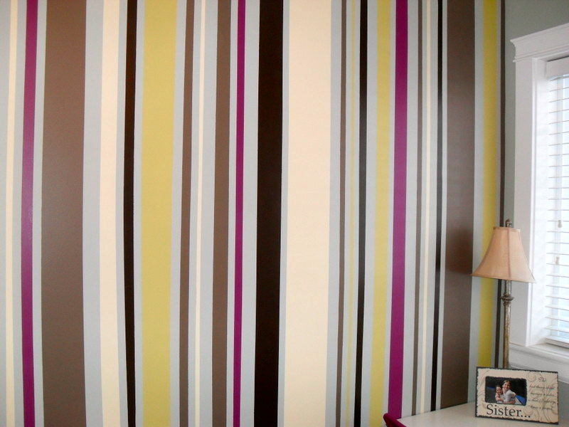 Home is Where my Heart is Feature Wall Painted Stripes