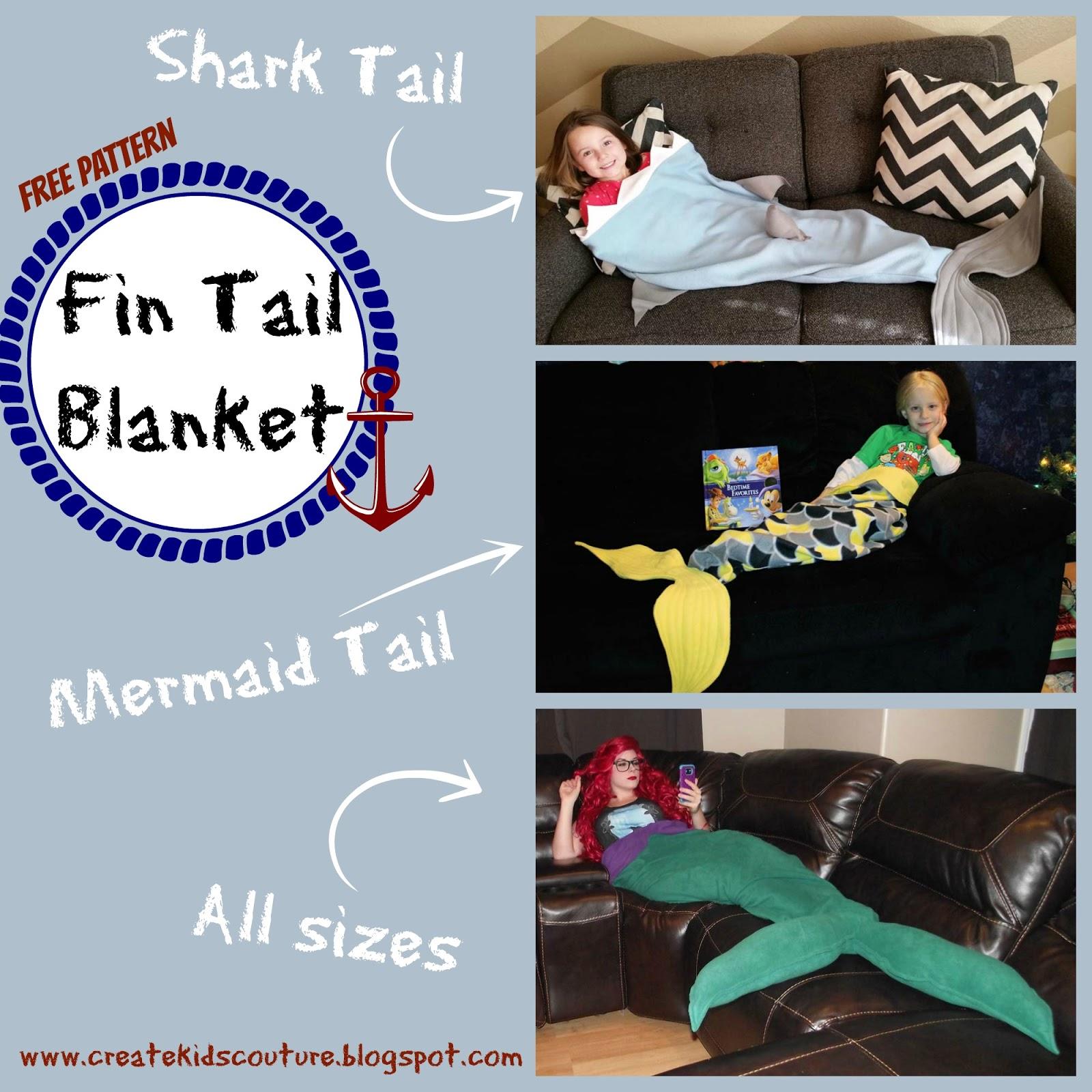 Create kids couture sharkmermaid tail blanket friday december 11 2015 jeuxipadfo Choice Image
