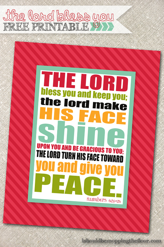 The Lord Bless You Free Printable