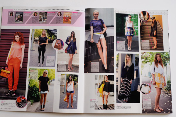 Street Fashion, Street Snap Sydney - Double Page spread for Nylon Japan
