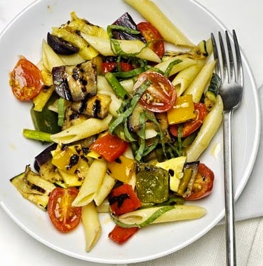 Penne with Grilled Vegetables Recipe
