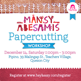 Join our Washi+Papercutting Workshop on December 14! :)