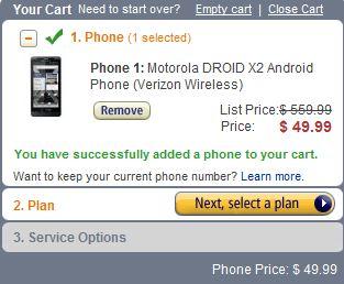 Droid X2 $49.99