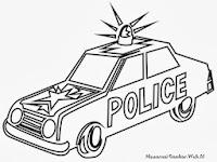 Lembar Mewarnai Gambar Mobil Polisi