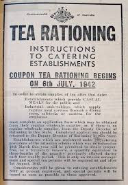 tea rationing instructions 1942 WWII