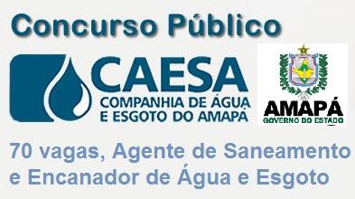Apostila Concurso CAESA 2015 (AMAPA) Agente de Saneamento e Encanador