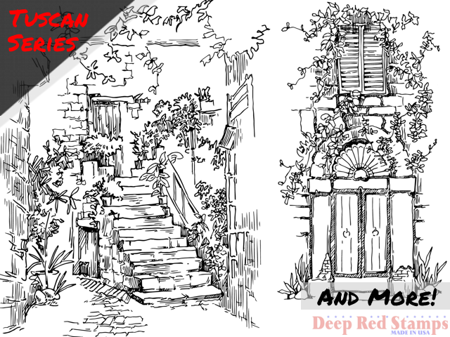 http://www.deepredstamps.com/courtyard-stairs-rubber-stamp.html?category_id=7
