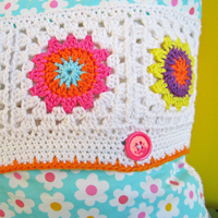 Crochet Pattern Flower Square IV