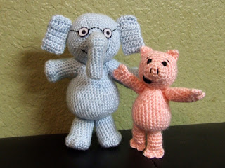 Piggie and Gerald Crocheted Dolls/Figures