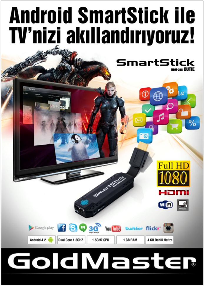 GOLDMASTER HDM-218 ANDROID SMARTSTICK