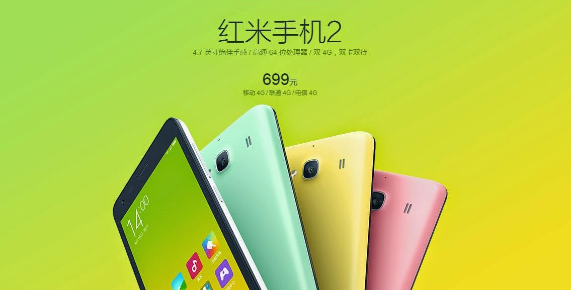 Harga Xiaomi Hongmi 2 dan Spesifikasi