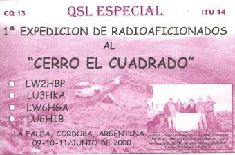 QSL Expedición al Cerro El Cuadrado