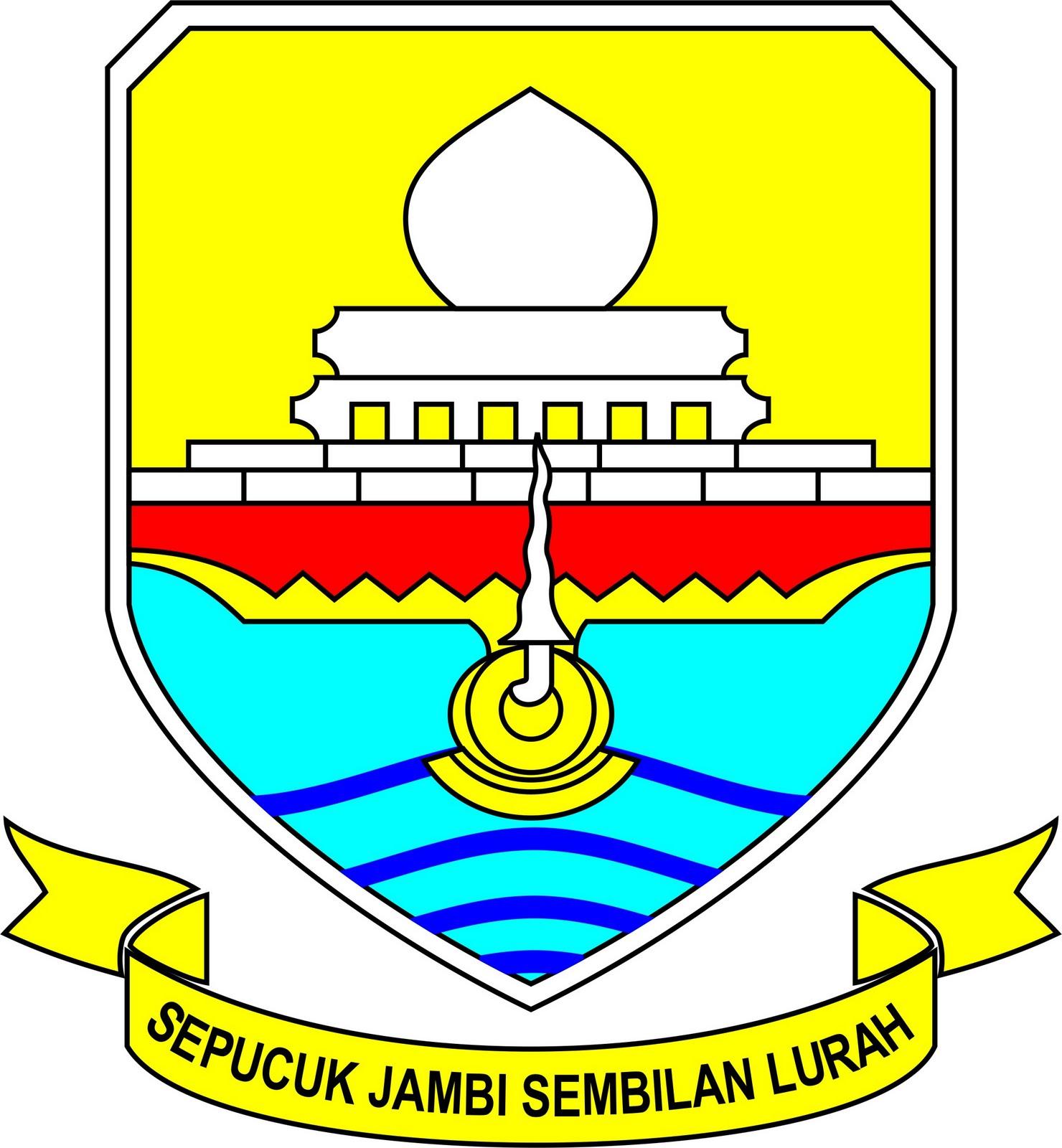 lambang daerah tingkat i provinsi jambi sepucuk jambi sembilan lurah