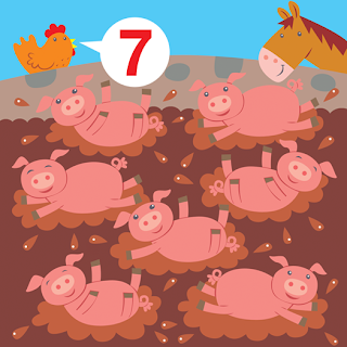 horse and hen count seven pigs