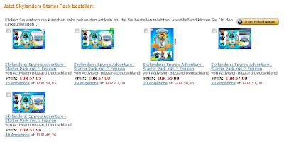 Skylanders: Spyros Adventure - Starter Pack inkl. 3 Figuren für verschiedene Konsolen inklusive 30-Euro-Gutschein für Amazon