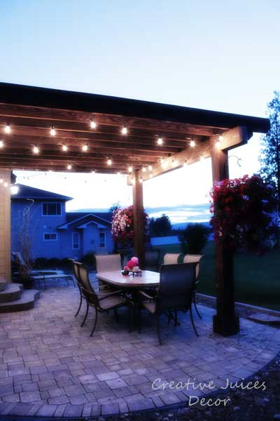 Outdoor String Lighting Ideas picture on pergola porch tips photos ideas gallery living space with Outdoor String Lighting Ideas, Outdoor Lighting ideas f9dc2d36953dc90367c313fbaf8dc4a3
