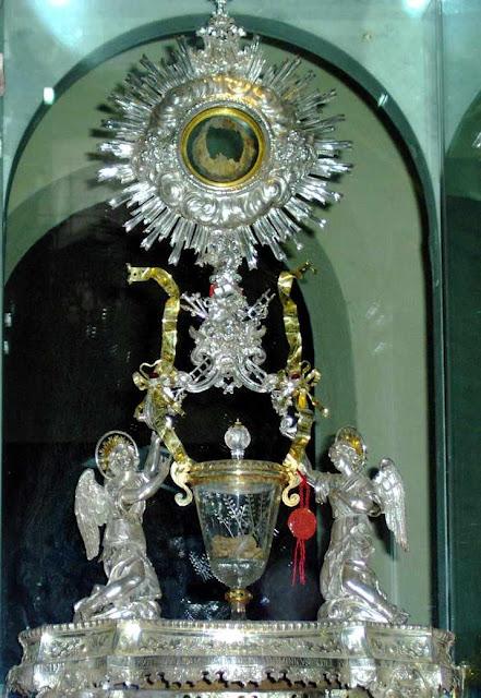 Lanciano: relíquias expostas
