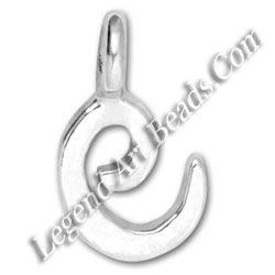 Silver Small E Letter Charms