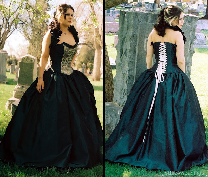 Dark Green Victorian Steampunk Gothic Prom Dresses Pictures