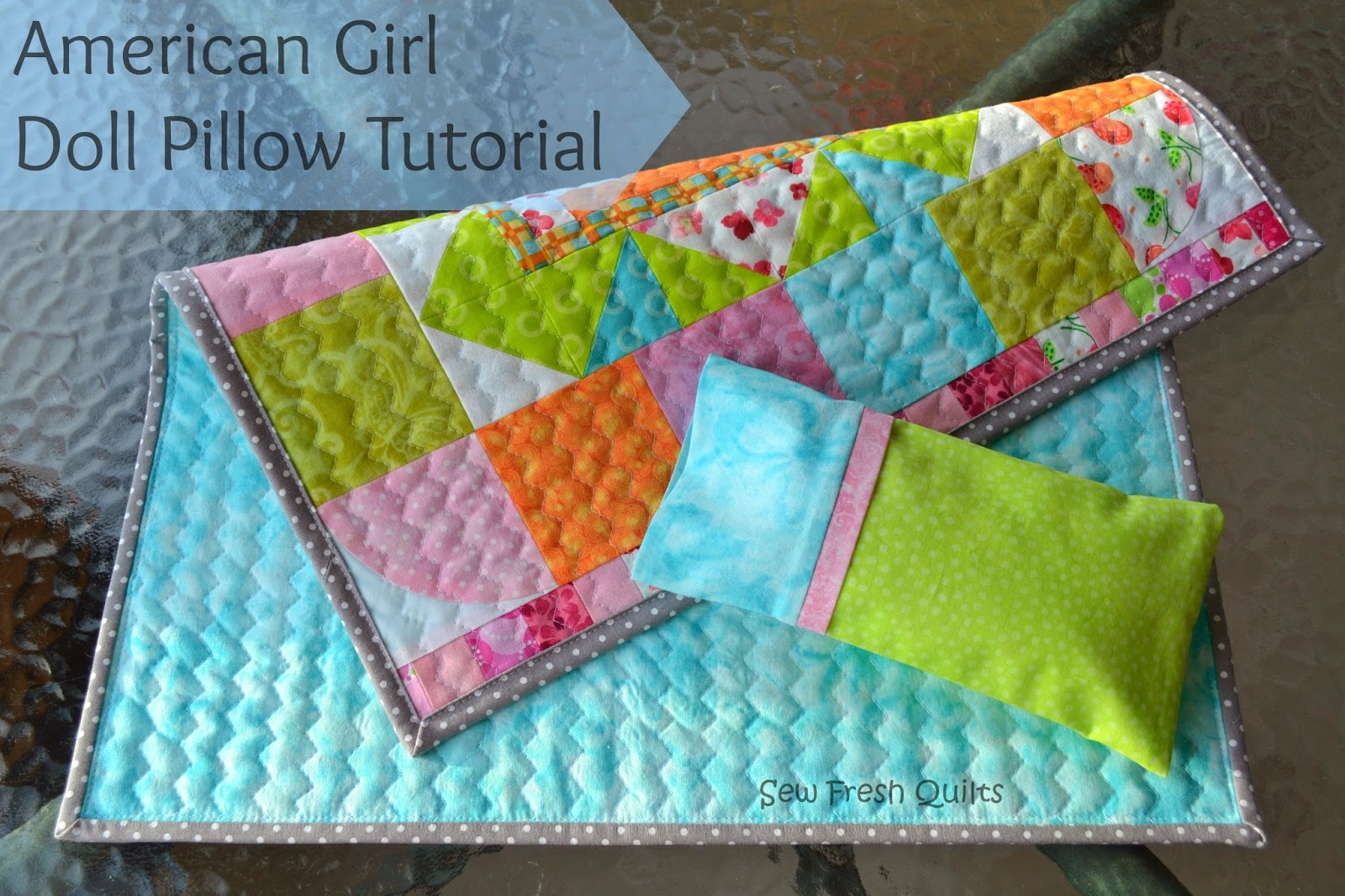 American Girl Doll Pillow tutorial