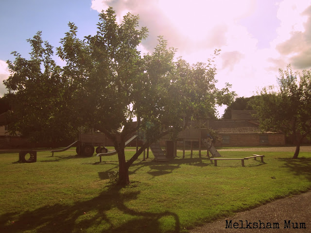 Children's play area in the orchard at Blickling Hall