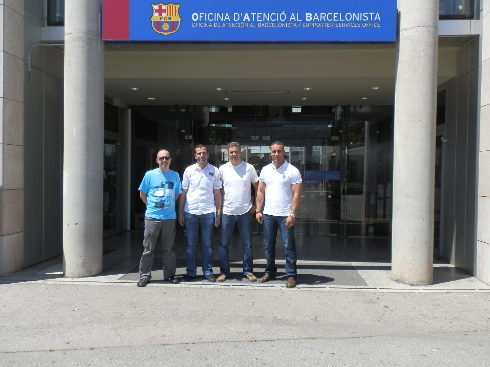 Penya blaugrana a t nsar una delegaci n de la penya for Oficinas fc barcelona