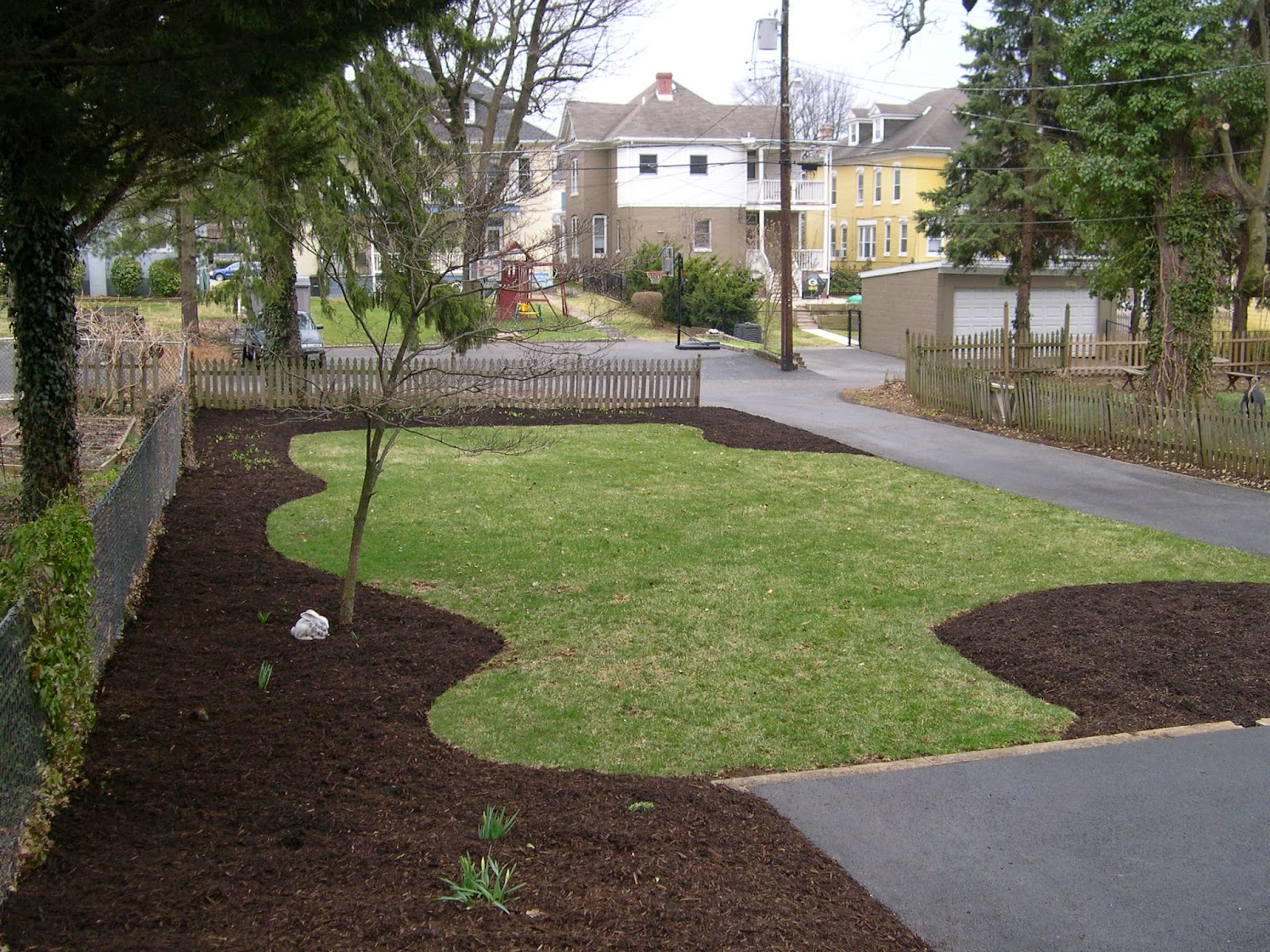 groshs lawn service adding new mulch in williamsport md