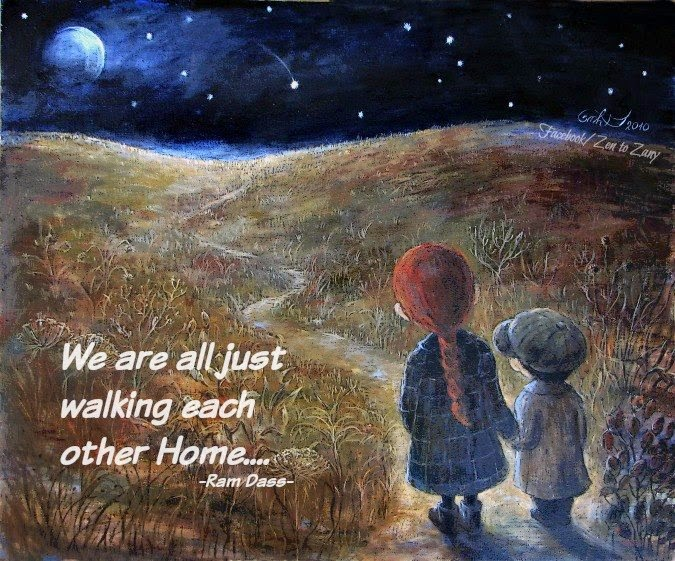 WALKING EACH OTHER HOME...